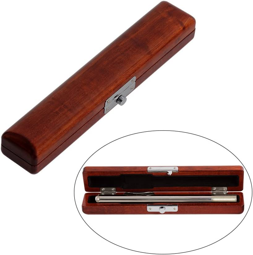 Flute Head At the price of surprise Wooden Case OFFer Box Solid Maple Holder Wood