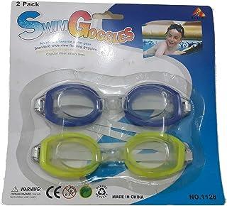 da8a833b9 Kit 2 Óculos Natação Cores Azul Marinho e Verde Claro Infantil Piscina  Nadar Criança Liquidação Promoção