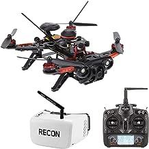 RotorLogic Walkera Runner 250 GPS 1080P HD Race Drone Quad-Copter RTF with Devo 7 Remote and Fat Shark Recon V2 FPV Goggles Headset Combo
