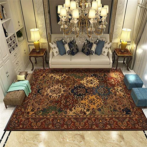 WQ-BBB Habitacións Alfombraes Cabello Corto Diseño de patrón de Colores Decorativos de Estilo étnico Tradicional Alfombra Infantil 200X300cm