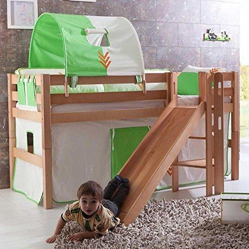 Pharao24 Kinderhochbett Benedict mit Rutsche