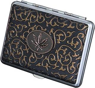 JTYX Cigarette Case Men and Women Moistureproof Waterproof Metal Cigarette Box can Accommodate 14