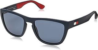 Tommy Hilfiger 1557-S Gafas de Sol para Hombre, Blue/Red/White , 54 mm