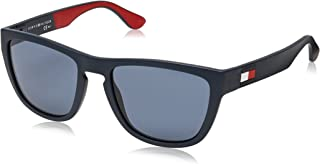 Tommy Hilfiger Men's TH1557S Square Sunglasses, Blue & Red & White, 54 mm