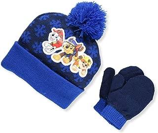 Nick JR Paw Patrol Boys Beanie Winter Hat and Mitten Set - Toddler Size [4015] Navy