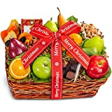 Christmas Orchard Delight Fruit and Gourmet Basket Gift