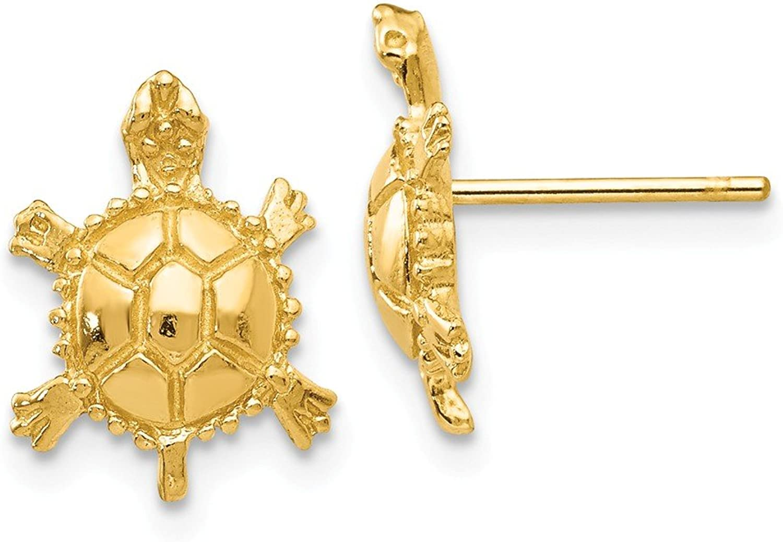 Beautiful Yellow gold 14K Yellowgold 14k Turtle Post Earrings