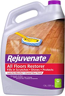 Rejuvenate All Floors Restorer and Polish Fills in Scratches Protects & Restores Shine No Sanding Required (128 oz)