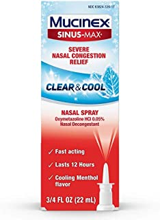 Mucinex Sinus-Max Nasal Spray Full Force - 0.75 oz, Pack of 2