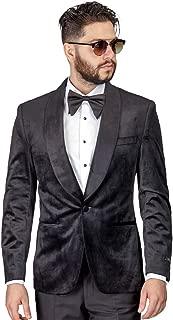 Slim Fit 1 Button Velvet Shawl Dinner Jacket