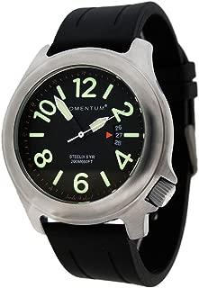 Men's Field Series Quartz Watch – Steelix | Black Dial, Water Resistant, Solid 316L Brushed Stainless Steel, Easy to Read Numbers, Date, Screw Crown | Japanese Mvmt, Analog