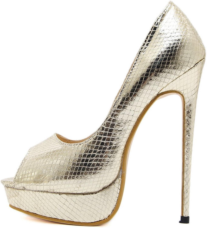 Quality.A Sexy Open Toe high Heels Platform Stilettos Professional shoes Dress