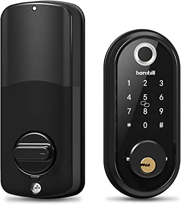 Door Lock keypad Fingerprint Deadbolt Lock, Smart Lock Front Door, Keyless Entry Door Lock with Biometric Touchscreen, Digital Exterior Door Locks Work with Alexa for Airbnb and Vacation Rental Hosts
