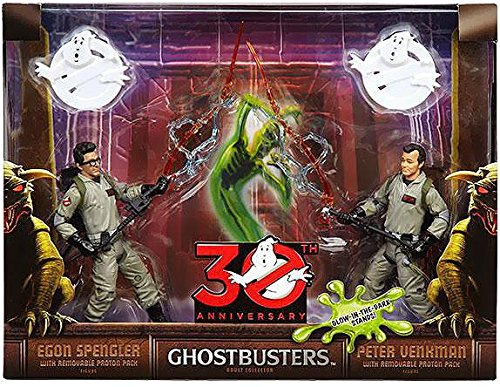 """Ghostbusters 30th Anniversary 6"""" Egon Spengler and Peter Venkman Action Figures with Proton Pack"""