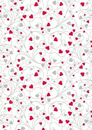 Stewo 2528813060 Geschenkpapier Elaine, Rolle im Format, 70 x 200 cm, weiß