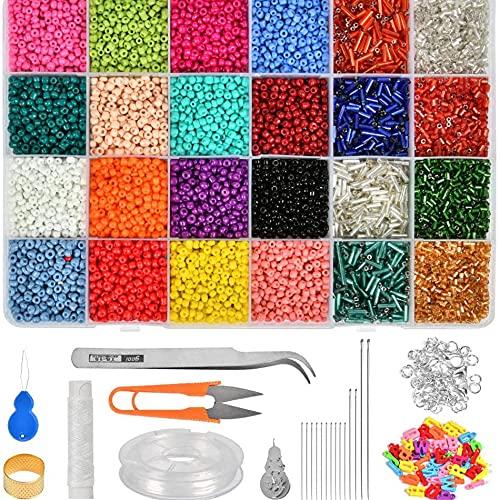 Queta 14126pcs Cuentas de Colores para niños, DIY Abalorios para Hacer Pulseras,...