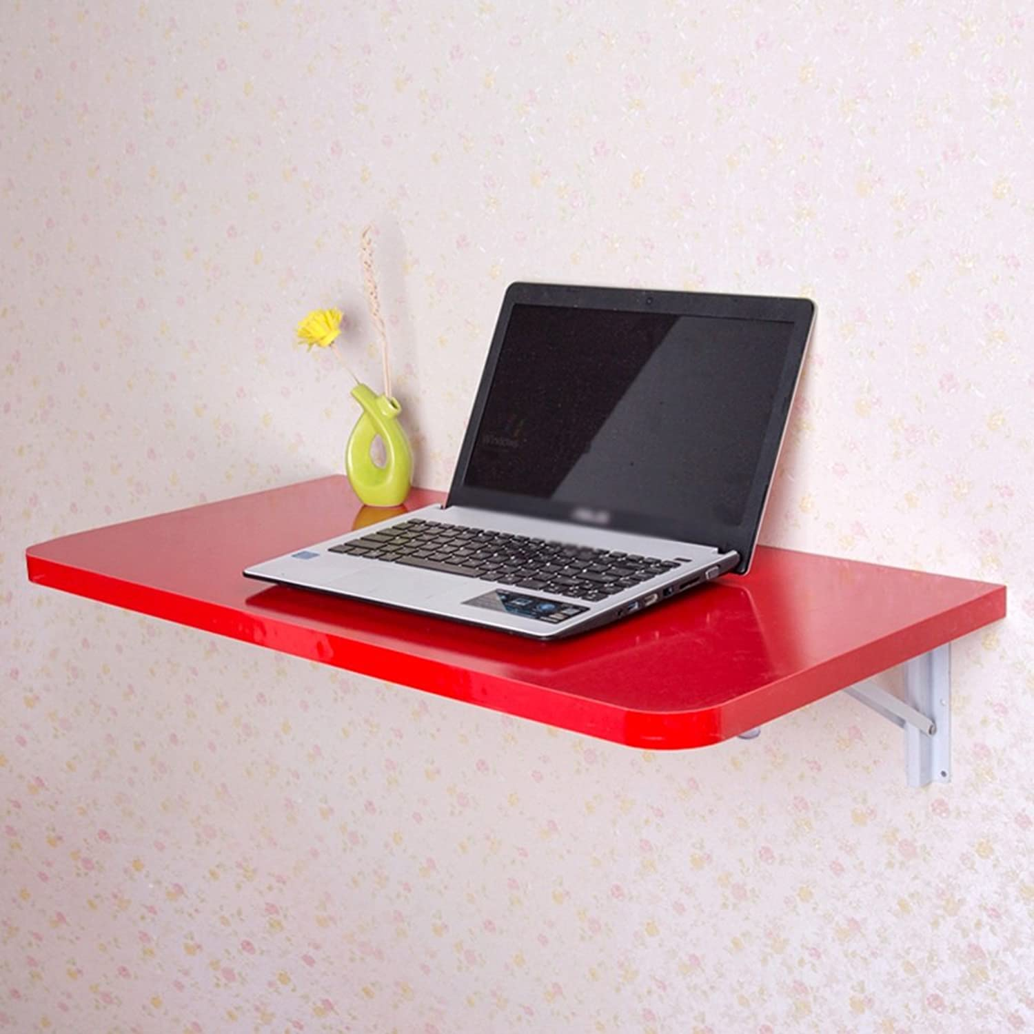 Djyyh Folding Table Small Size Computer Table Wall-Mounted Desk Notebook Desk Drop Leaf Dining Table 4 Size 5 colors Optional (color   D, Size   50  30cm)
