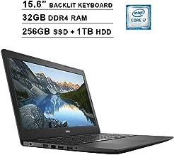 2019 Dell Inspiron 15 5000 15.6 Inch FHD Laptop (Intel Quad Core i7-7500U up to 3.5 GHz, 32GB RAM, 256GB PCIe SSD + 1TB HDD, Intel HD 620, Standard Keyboard, WiFi, Bluetooth, HDMI, Windows 10)