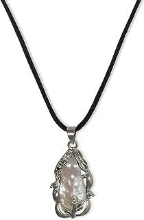 Collar de perlas natural de freshwater, perlas cultivadas de agua dulce, natural, blanco, 15x26x16mm