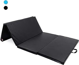 comprar comparacion ISE Colchoneta Grosor 5 cm Plegable con Asas 4 Pliegues espuma antiderrapante Yoga, Pilates, aeróbics & ejercicio para cas...