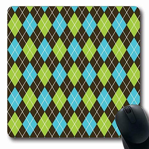 Jamron Mousepad OblongDecoration Argyle Pattern Schwarzer Druck Business Blue Geschenk Harlekin Beauty Fashion Textures Wrap rutschfeste Gummimaus Pad Office Computer Laptop Spiele Mat.-Nr.