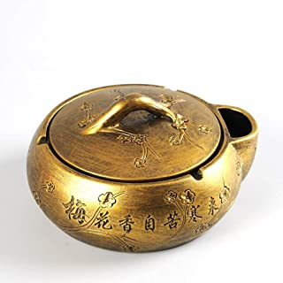 Ashtray, Ashtray Creative Ashtray 16cm Chinese Style Retro Large Personality Trend Bedroom Home Living Room Office (Color : B),Size:E,Colour:E (Color : E, Size : E)