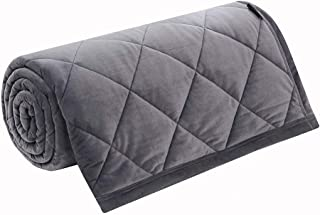 Weighted Blanket Queen Size 15 lbs Adult-High Quality Plush 100% Crystal Vevelt Calm Heavy Blanket for Good Sleep 60×80, Grey