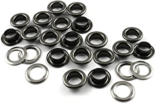 , Gunmetal Black 1//2 13mm CRAFTMEmore Flat Surface Grommet Eyelet with Washers Solid Brass Washable Grommets Purse Loops Garment Accessories 10 Pack
