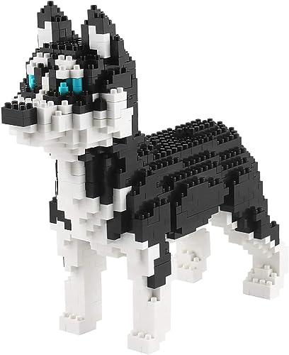 2021 Larcele Mini Dog Building Blocks Pet outlet online sale Building Toy Bricks,950 Pieces KLJM-02 online (Husky) sale