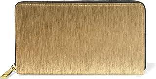 KASAMO 財布 メンズ 長財布 人気 シンプル 金色 カスタム 本革18枚 多機能 ラウンドファスナー 小銭入れ付 レディース 二つ折りバレンタインデー 母の日 父の日のプレゼントお贈り物
