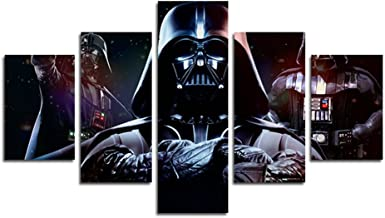 AtfArt 5 Piece HD Printed Star Wars Darth Vader Print on Canvas Painting of Canvas Printing Room Decor Prints Image (No Frame) Unframed far244 50 inch x30 inch…