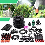 Drip Irrigation Kit, 82ft Garden Irrigation System with 1/4' Blank Distribution Tubing Hose,Greenhouse Drip Irrigation Set Automatic Saving Water System for Garden,Lawn