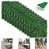 Superlife Coco 15 Stück 50,8 x 50,8 cm Künstliche Buchsbaumplatten Formschnitthecke Pflanze UV-Schutz Sichtschutz für Gartenzaun Garten Garten Innen