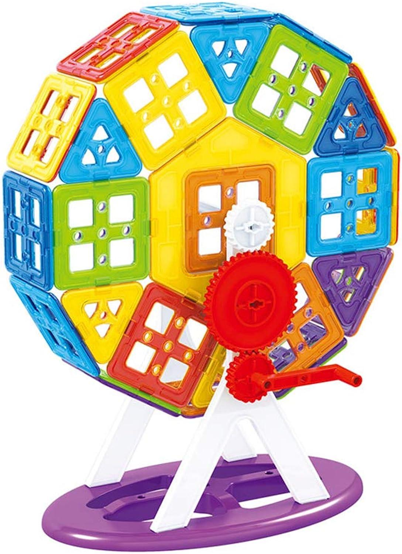 barato SLONG Pieza magnética Bloque de construcción construcción construcción Juguete Niños iluminación Bloques de construcción Puzzle DIY Juguete Pieza magnética Insertar Bloque de Mosaico Conjunto  venta