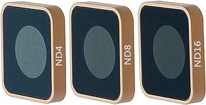 QKOO ND Filter Kit for GoPro Hero 7 Black/Hero (2018)/Hero 6 Black/Hero 5 Black - ND4, ND8, ND16 Lens Filter (3-Pack) - Neutral Density Lens Filters Set Camera Lens Accessories Outdoor Sport