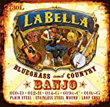 LaBella 730L Stainless Steel Banjo Strings, Light