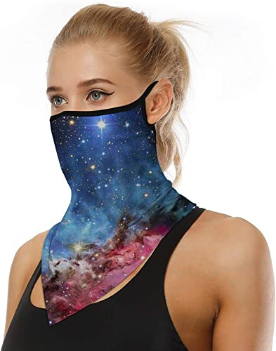 2021 Cooling Neck Gaiter with Ear outlet online sale Loop Breathable Mesh Face Bandana Mask Windproof Face Protection UV Protective online sale Face Balaclava Neck Scarf for Outdoor Cycling, Hiking, Traveling,Camping Black online sale