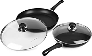 Scanpan Classic Nonstick Fry Pan Skillet Set with Lids (10.25 & 12.5-inch)