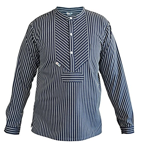 Fischerhemd Basic, Herren, L, breiter Streifen