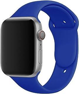 Correa de silicona para Apple Watch Band 44mm 40mm 38mm 42 Mm Cinturón de goma Smartwatch Pulsera Pulsera deportiva para I...