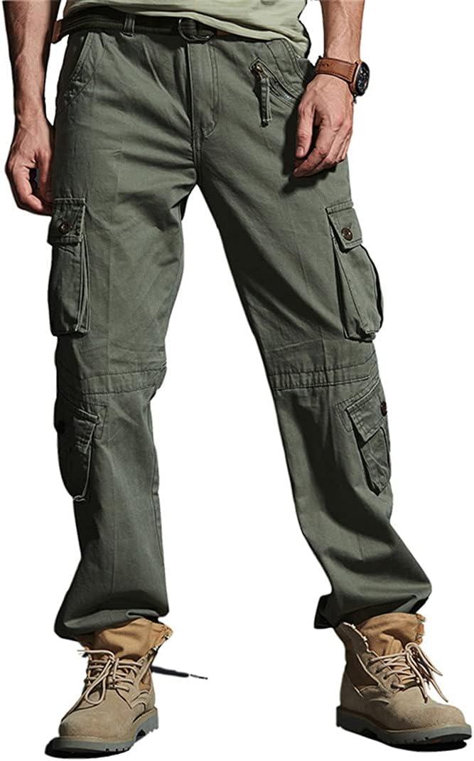 BUTERULES Multi-Pockets Military Cargo Pants Men Army Fight Assa