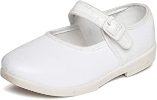 Onbeat Girls White Ankle School Shoes
