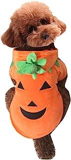 Mogoko Dog Cat Halloween Pumpkin Costume,Pet Cosplay Costumes,Puppy Warm Outfits Fleece Hoodie Animal Autumn Winter Clothe...