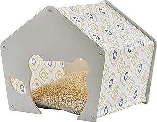 Xkun White Birch Multi-layer Board Design Shed New Style Cat House Teddy Kennel Ventilerad Och Andas(Color:B)