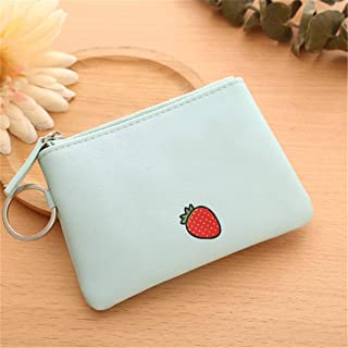 Guoshang Women Simple Mini Short Wallet-Fruit Zipper Coin Purse PU Leather Card Holders Handbag