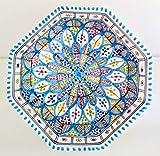 Mystery Souk - Cuenco de cerámica marroquí fabricado a mano en color turquesa y con...