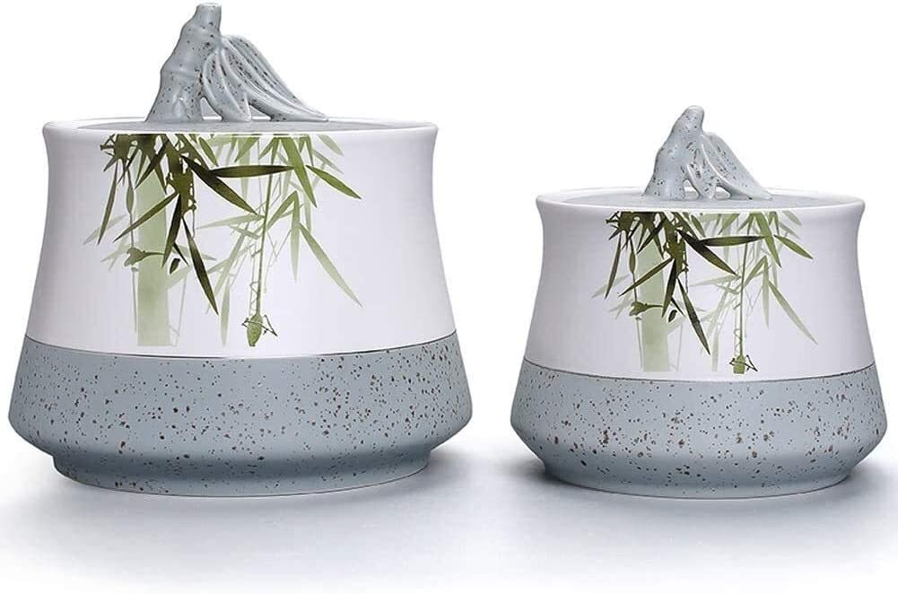 Size : Small Urne funeraire Premium Quality Ceramics Memorial Keepsake Urns Handcrafted to Perfection Engraved with Unique Design 10//15
