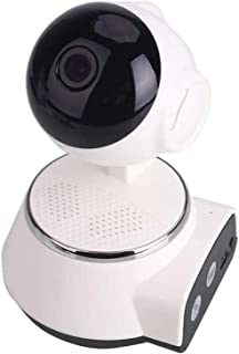 LUCKYFF 360Grados Camara Vigilancia WiFi1080P HD Innovadora Cámara IP Vigilabebés/Mascotas con Monitor Mando a Distancia USB de Interfaz