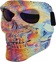 Flantor Spooky Skull Face Mask for Airsoft Paintball Motor Racing Polarized Lens