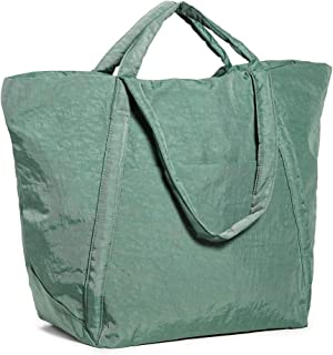 BAGGU Travel Cloud Bag, Lightweight Nylon Packable Tote for Travel or Everyday Use, Eucalyptus